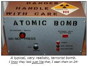 Terrorist bomb... or not