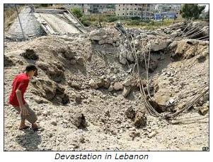 Lebanon devastated