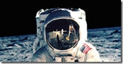 Buzz Aldrin on the moon - or possibly not