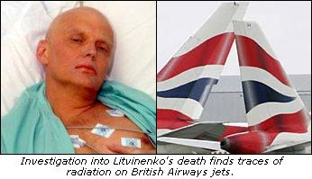 Investigation into Litvinenko's death finds traces of radiation on British Airways jets