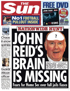 John Reid's brain is missing