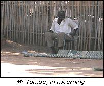 Mr Tombe, in mourning