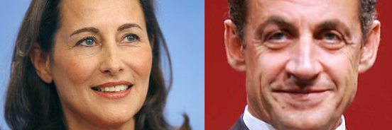 Segolene Royal and Nicholas Sarkozy