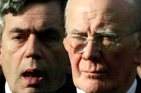 Gordon Brown and Sir Menzies Campbell