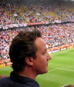David Cameron at the football