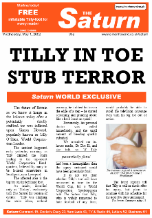 Daily Saturn: Tilly in Toe-Stub Terror