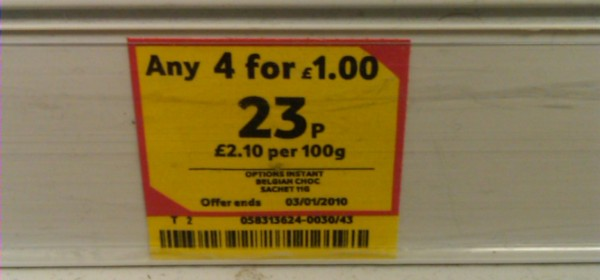 23p... or 4 for £1
