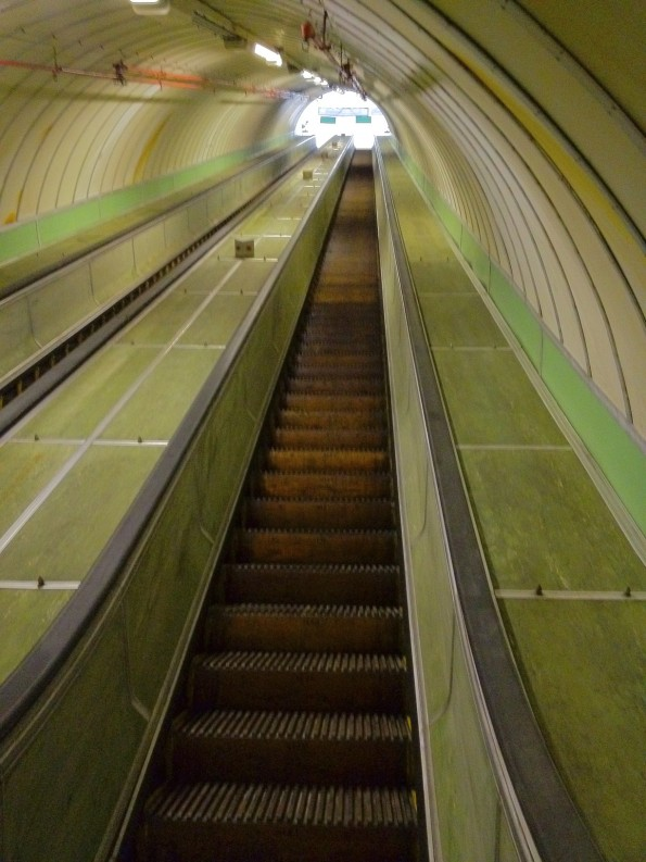 Tyne Pedestrian and Cycle Tunnels escalators