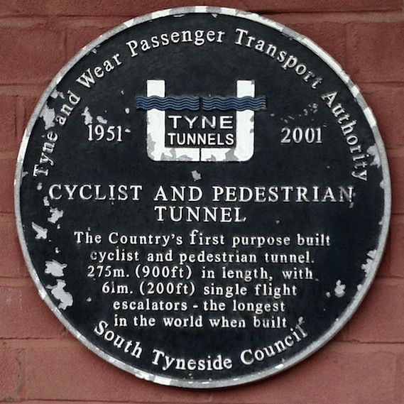 Tyne Pedestrian and Cycle Tunnels Plaque