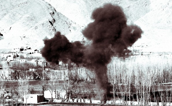 Bomb exploding