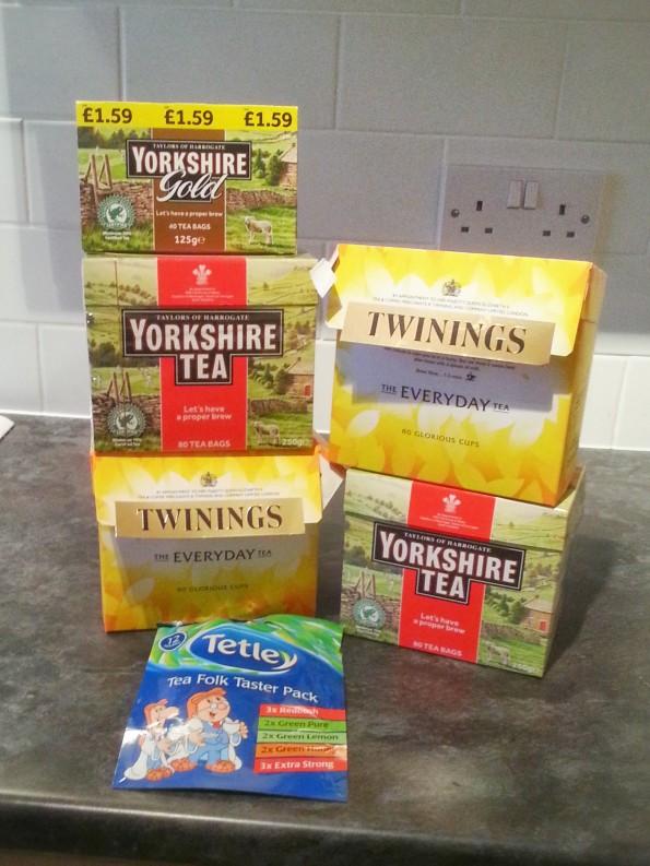Excess tea