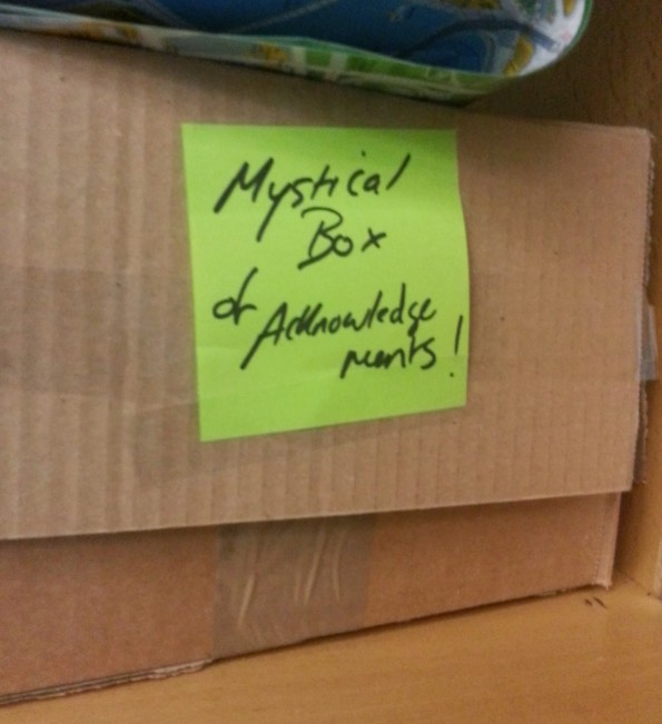 Mystical box of acknowledgements