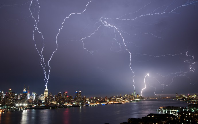 Lightening over Manhattan